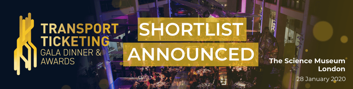 Transport Ticketing Global Awards shortlist